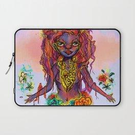 Flower Power Girl Laptop Sleeve