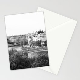 Paris in Black and White, Notre Dame and Les Iles Stationery Cards
