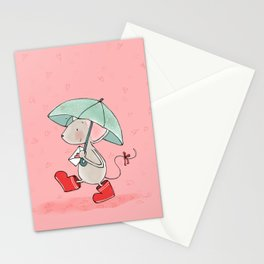 Little Mouse - Lovely Rain Stationery Cards