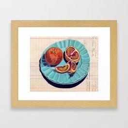 Blood Oranges in Gouache Framed Art Print