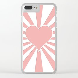 Blush Pink Valentine Sweetheart Love Explosion Clear iPhone Case