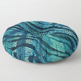 Wavy Tribal  Ethnic Boho Pattern Floor Pillow