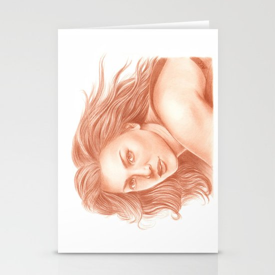 Woman Portrait 3 Stationery Cards