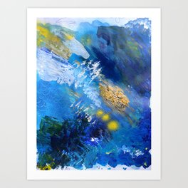 Abstract Textured Seascape Painting Art Print