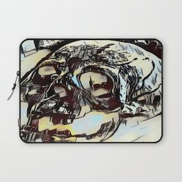 Metal Paper Skull Laptop Sleeve