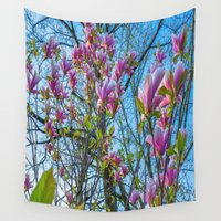 magnolia Wall Tapestries featuring Magnolia by Ricarda Balistreri