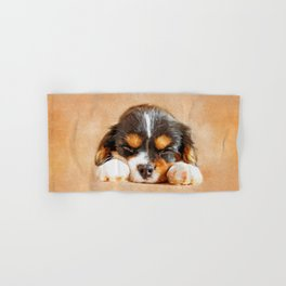 Cavalier King Charles Spaniel Puppy Hand & Bath Towel