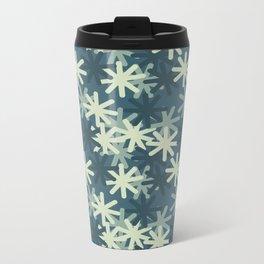 Mod Snowflakes Metal Travel Mug