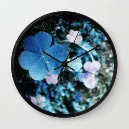 Lucky Blue Wall Clock
