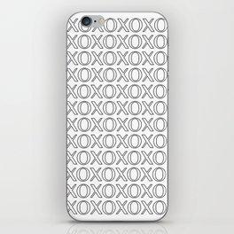 XOXO Pattern Art Print iPhone Skin