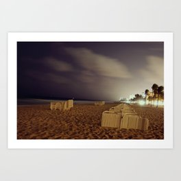 Only at night Art Print