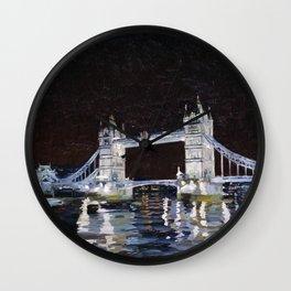 Tower Bridge. 2006. Canvas on cardboard, oil. 35 x 40 cm. Wall Clock