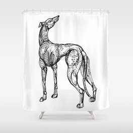 Whippet Shower Curtain