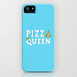 Pizza Queen Blue iPhone Case