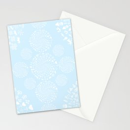 Snow & Ice Love Symbol Mandala Stationery Cards