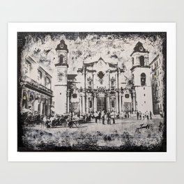 Havana Cathedral Art Print
