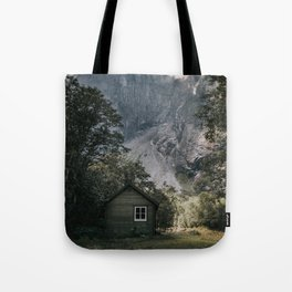 Mountain Cabin - Landscape and Nature Photography Tote Bag