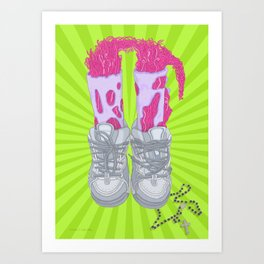 Jump up Art Print