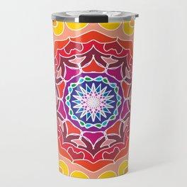 Colorful Rangoli Design Travel Mug