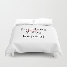 Eat Sleep Solve Cube Repeat Speed Cubing Duvet Cover