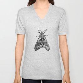 Cabbage Moth [Mamestra brassicae] Unisex V-Neck