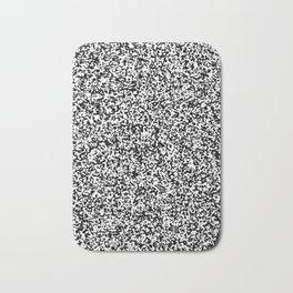 Tiny Spots - White and Black Bath Mat