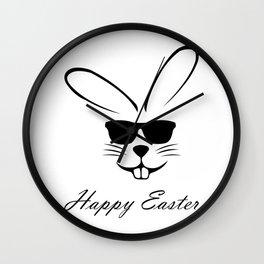 Bunny says: Happy Easter Wall Clock
