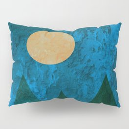Ancestral, Abstract Landscape Mountains Pillow Sham