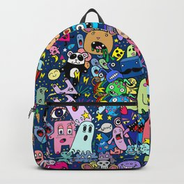 Doodle Monsters Party Night Backpack