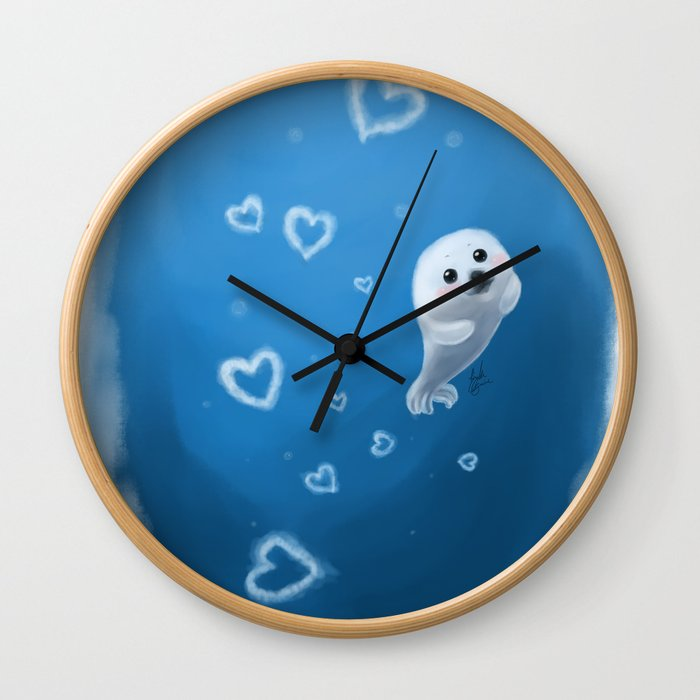 Love, From Baby Seal Wall Clock