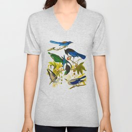 Yellow-billed Magpie Bird Unisex V-Neck