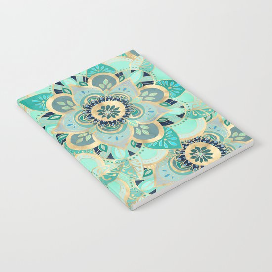 Gilded Emerald Enamel Notebook