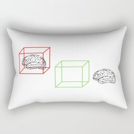 Think Outside The Box Rectangular Pillow