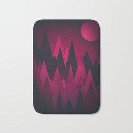 Dark Triangles (Peak Woods) Abstract Grunge Mountains Design (red/black) Bath Mat