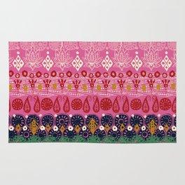 lotus block pink Rug
