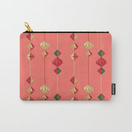 Origami decorations on living coral Carry-All Pouch