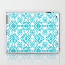Turquoise Flower Kaleidoscope Laptop & iPad Skin