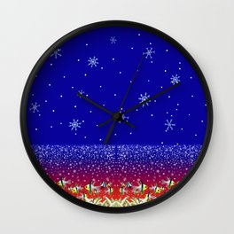 Ugly Christmas Fishes Wall Clock