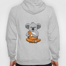Buddha Koala Drinking Tea Shirt Meditation Peaceful Animal Hoody