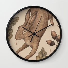 The Hare and Oak Wall Clock