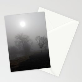 Misty riverside Stationery Cards