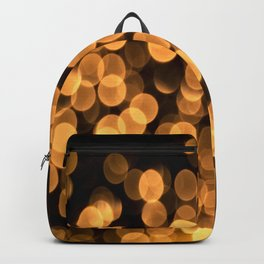 Golden Bokeh Light On A Black Background #decor #society6 Backpack
