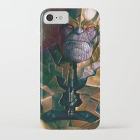 thanos iPhone & iPod Cases featuring Thanos: Infinity Gauntlet  by MATT DEMINO