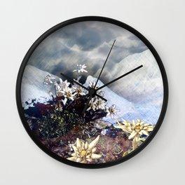 Edelweiss Winter Wall Clock
