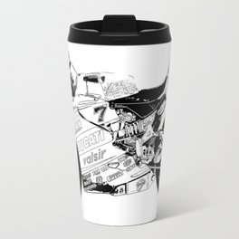 Motorcycle black and white, original race motorcycle Travel Mug