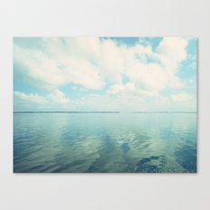 Clear Blue Canvas Print