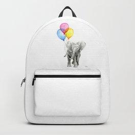 Baby Elephant with Balloons Nursery Animals Prints Whimsical Animal Backpack