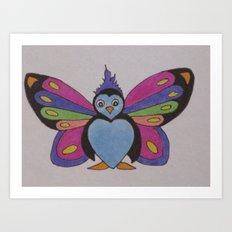 Flutter Buddy Penguin Art Print