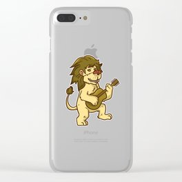 Guitar Lion Clear iPhone Case