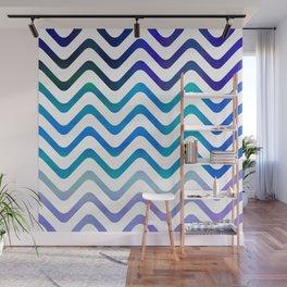 High Seas Stripe Waves Wall Mural